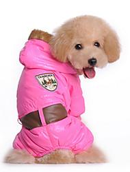 Perros Abrigos Azul / Rosado Invierno Flores / Botánica Mantiene abrigado, Dog Clothes / Dog Clothing-Other