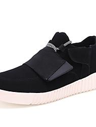 Herren-Sneaker-Lässig-PU-Flacher Absatz-Komfort-Schwarz / Blau / Grau