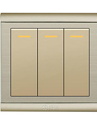 Three Open Control Panel Wall Switch