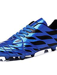 Femme-Extérieure / Sport-Vert / Orange / Bleu royal-Talon Plat-Confort-Sneakers-Similicuir