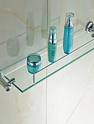 "Badezimmer Regal Chrom Wandmontage 605 x 120 x 90mm (23.8 x 4.72 x 3.54"") Messing / Kristall Modern"