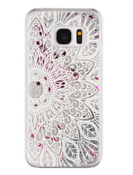 Für Samsung Galaxy S7 Edge Mit Flüssigkeit befüllt / Transparent / Muster Hülle Rückseitenabdeckung Hülle Mandala Hart PC SamsungS7 edge