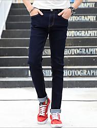Men's Solid Casual JeansCotton Black
