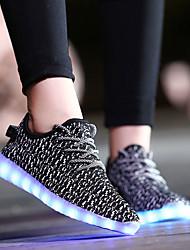 führte Schuhe Damenschuhe Komfort Turnschuhe beiläufige flache Ferse andere schwarzem Tüll / pink / rot / grau