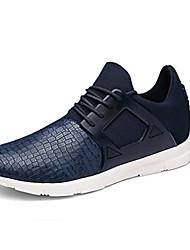 Femme-Extérieure / Décontracté / Sport-Noir / Bleu / Vert-Talon Plat-Confort-Chaussures d'Athlétisme-Microfibre