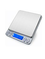 doméstico escala eletrônica alimentares (Gama de pesagem: 3 kg / 0.1g, versão chinês, placa dupla escala)