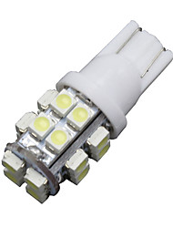 6 x T10 20-SMD LED 6000K White Super Bright Car Lights Bulb 194,168,2825, W5W US