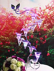 Porte-bouteilles(Argent,Chrome) -rustique Theme Fleurs Fleurs Non personnalisé 1