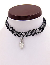 Necklace Choker Necklaces Jewelry Daily Fashionable Silicone Black 1set Gift