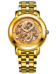 BOS Automatic Mechanical Watches And Watch The Dragon China 3D Luminous Hollow Flywheel Wrist Watch Cool Watch Unique Watch