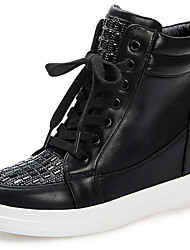 Women's Sneakers Spring/Fall/Winter Cowboy/Western Boots Glitter Athletic / Casual Platform Black/White Sneaker