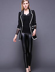 STEPHANIE  Women's Solid Blue / Black / Purple Skinny PantsVintage