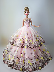 Wedding Dresses For Barbie Doll Pink Lace Dresses