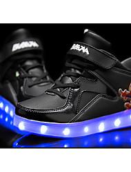 Черный / Синий / Красный / Белый-Для мальчиков-На каждый день-Полиуретан-На плоской подошве-Удобная обувь-Кеды