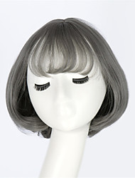 Japan And South Korea Fashion Wig Air Bang Yurisa Paragraph With Daily Harajuku Lolita  Gray Cos Wig