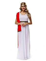 Costumes de Cosplay / Costume de Soirée Cosyumes Romains Fête / Célébration Déguisement Halloween Blanc / Bleu Couleur Pleine