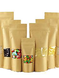 пакетиков крафт окно Ziplock мешки упаковки пищевых продуктов, самозаклеивающиеся мешки оптовой пользовательских лайчи десять пакет