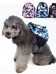 Dog Carrier & Travel Backpack / Dog Pack Pet Carrier Portable Green / Blue / Pink Fabric