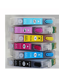 para impressora Epson R330, t0851 cartucho recarregável com chip, um pacote de seis (bk / r / y / b / vermelho claro, azul claro)