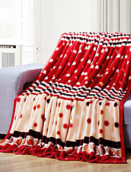 Red Fleece fabric blanket summer comforter Air conditioning throw winter soft bedsheet for single or double bed