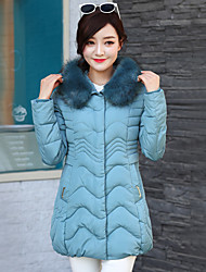 Women's Patchwork Plus Size Slim Fashion Large Size  Padded Coat,Simple Hooded Long Sleeve