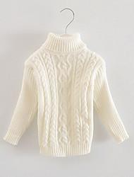 Mädchen Bluse / Pullover & Cardigan-Lässig/Alltäglich einfarbig Baumwolle Herbst Weiß