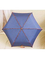 Azul / Cáqui Guarda-Chuva Dobrável Sombrinha / Ensolarado e chuvoso / Chuva Metal / têxtil / SiliconeCarrinho / Crianças / Viagem / Lady