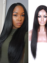 100% Virgin Human Hair Wigs Straight Lace Front Human Hair Wigs For Black Women Natural Color Lace Front Wigs