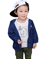 Boy's Casual/Daily Print Trench Coat,Others Spring / Fall Black / Blue