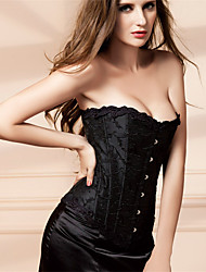 Jacquard Wrapped Chest Reinforced Stereotypes Ms. Palace Abdomen Lace Up Spandex Overbust Corset