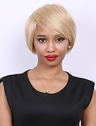 Short Straight Side Bang Fashion Human Hair Wig For Women