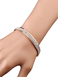 Bangles / Cuff Bracelets 1pc,Golden / Silver Bracelet Fashionable Geometric 514 Alloy / Rhinestone Jewellery