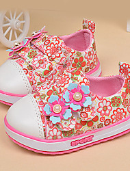 Para Meninas Mocassins e Slip-Ons Conforto Algodão Primavera Outono Conforto Apliques Azul Rosa claro