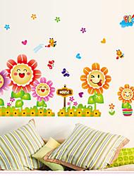 Bande dessinée Stickers muraux Stickers avion Stickers muraux décoratifs,PVC Matériel Repositionable Décoration d'intérieur Wall Decal