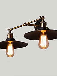 Rural Industrial Retro Wall Lamp Double Wall Lamp Black Umbrella