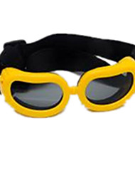 Yellow Color, Plastic Material Goggle, XS Puppy Eye Goggle