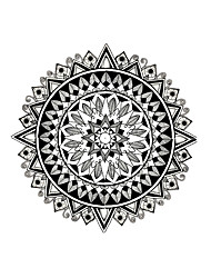 6pcs Totem Temporary Waterproof Tattoo Sticker Kaleidoscope Decal for Women Men Body Art