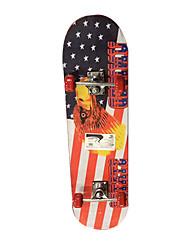 klassische Skateboard (70 * 51mm) rot / blau
