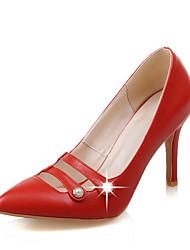 Women's Shoes Spring / Summer / Fall Pointed Toe Heels Wedding Dress Stiletto Heel Imitation PearlBlack /