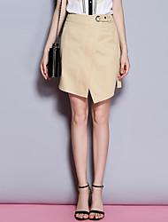 Sybel Frauen solid weiß / schwarze Röcke, simple / niedlich / Straße chic oberhalb des Knies