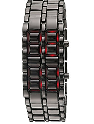 Men's Watch Lava Style Red LED Digital Calendar Wrist Watch Cool Watch Unique Watch Fashion Watch