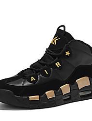 Unisexe-Décontracté-Rouge / Argent / Or-Talon Plat-Confort-Sneakers-Polyuréthane