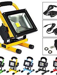 10 Lampes Portables 600-900 lm Blanc Chaud / Blanc Froid LED Intégrée Rechargeable / Etanches AC 100-240 V 1 pièces