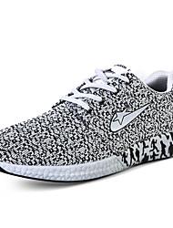 Herren-Sneaker-Lässig-Tüll-Flacher Absatz-Komfort-Blau Grau Schwarz und Weiss