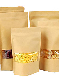 Spot Can Be Customized Kraft Dates Nuts Dried Fruit Food Packaging Bags Tea Bags Window A Ten Pack