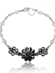 2016  New Flower Noble Silver Black Party Luxury Specially Bracelets For Women