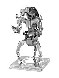Quebra-cabeças Quebra-Cabeças 3D Blocos de construção DIY Brinquedos / 1 Metal Prateada Toy Novelty