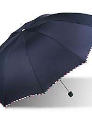 Azul / Morado Paraguas de Doblar Soleado y lluvioso textil Viaje / Lady / Hombre