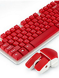 High Quality Wireless Computer Keyboard and Mousepad Set Two Pieces a Set