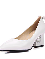 Women's Shoes Spring / Summer / Fall Heels / Pointed Toe Heels Wedding Dress Chunky Heel Slip-onBlack /